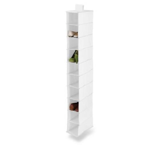 Honey Can Do 10 Shelf Hanging Vertical Closet Organizer, White (SFT-01240)