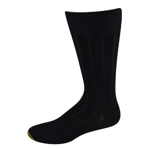 Gold Toe Men's Socks Cambridge FX Crew Black 3 pairs
