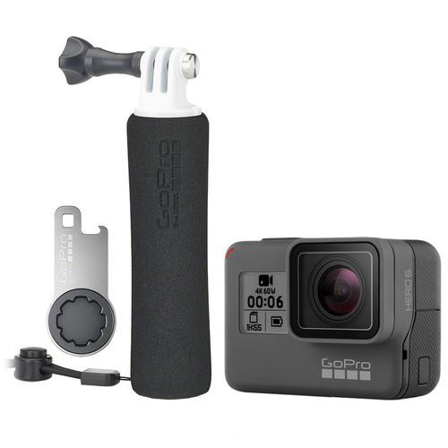 GoPro - Beach Bundle HERO6 Black 4k Action Camera and The Handler Floating Hand Grip