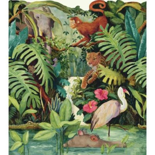 York Wallcoverings Brothers and Sisters V Jungle Scenic Wallpaper Border