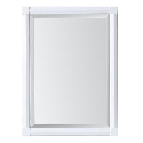 Martha Stewart Living Sutton 23.50 in. x 32 in. Surface Mount Medicine Cabinet in Bright White