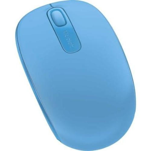 Microsoft Wireless Mobile Mouse 1850 - Optical - Radio Frequency - Cyan Blue