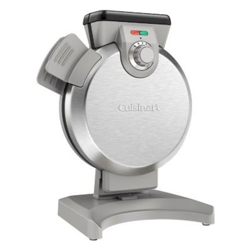 Cuisinart One Round Belgian Vertical Waffle Maker, Stainless Steel (WAF-V100)