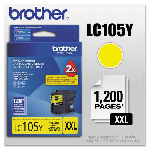 Brother BRTLC105Y LC105Y Innobella Super High-Yield Ink, Yellow