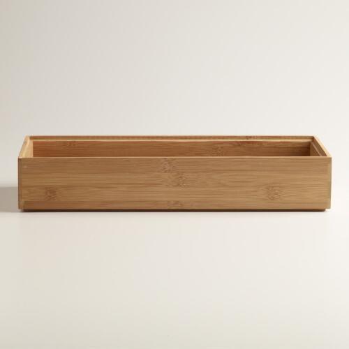 Large Bamboo Drawer Organizer