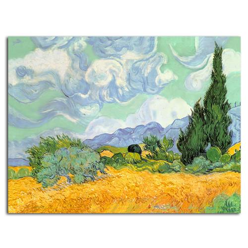 Trademark Global Vincent van Gogh'Wheatfield with Cypresses1889' Canvas Art
