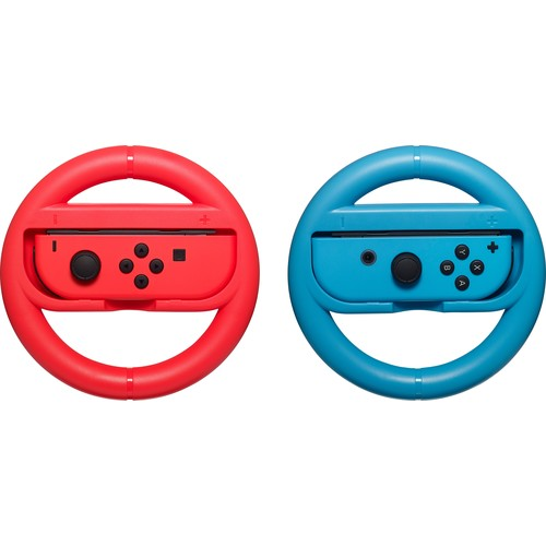 Insignia - Joy-Con Wheel for Nintendo Switch (2-Pack) - Neon red/Neon Blue