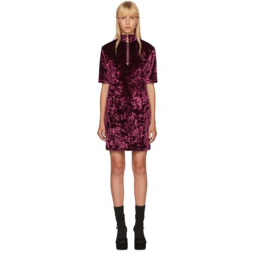 MARC JACOBS Burgundy Velvet Zip Dress