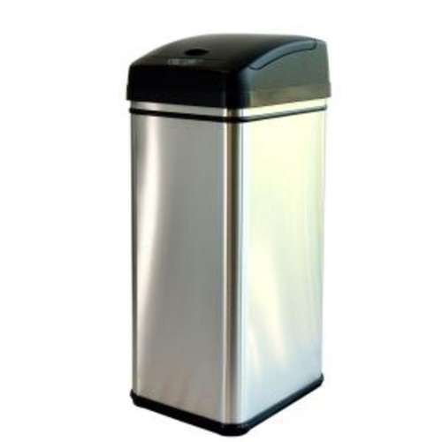 iTouchless 13 Gal. Stainless Steel Motion Sensing Touchless Trash Can with Deodorizing Carbon Filter Technology