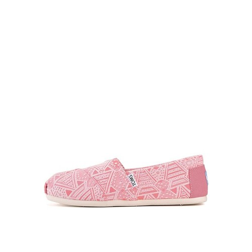 The Classic Neon Tribal Flats in Pink