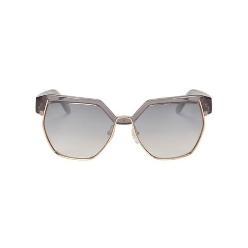 CHLOÉ Dafne Metal/Plastic Frame Sunglasses: Grey