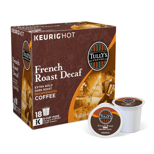 Keurig K-Cup Pod Tully's Coffee French Roast Decaf Coffee - 18-pk.