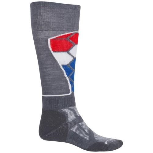 SmartWool Ski Medium Pattern Socks - Merino Wool, Over the Calf (For Men and Women)