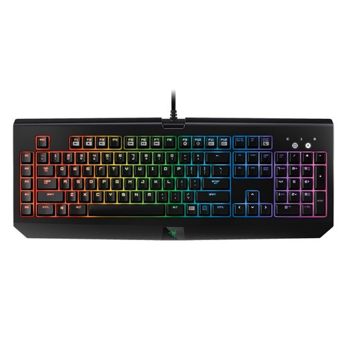 Razer BlackWidow Chroma, Clicky RGB Mechanical Gaming Keyboard, 5 Macro Keys - Razer Green Switches [RGB V1]
