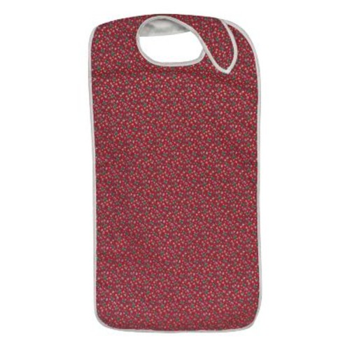 DMI Polyester/Cotton Mealtime Protector With Hook and Loop, Fancy Rose