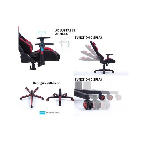 360 Degree Rotation Gaming Chair Computer Chair With Armrest Boss Office Chair red