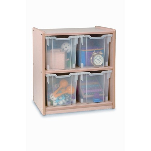 Whitney Brothers 4 Jumbo Tray Melamine Storage, Natural