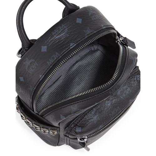MCM Stark Side Stud Backpack X-Mini, Black