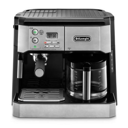 DeLonghi Combination Pump Espresso and 10-Cup Drip Coffee Machine with Advanced Cappuccino System