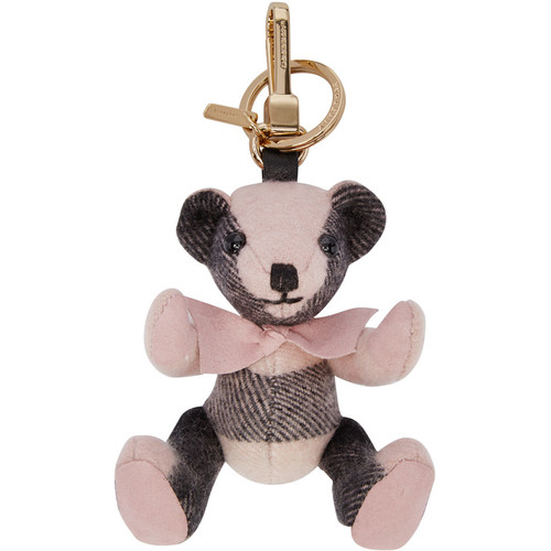 BURBERRY Pink Check Thomas Keychain