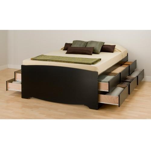 Prepac Queen Wood Storage Bed