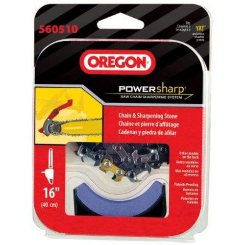 Oregon PowerNow CS300 Replacement Chainsaw Chain, PowerSharp 16 in. (Includes Sharpening Stone)