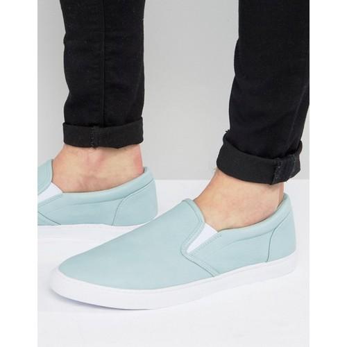 ASOS Slip On Sneakers in Pastel Blue