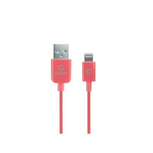 Cellet Apple Licensed 4 ft. Lightning 8-Pin to USB Charging and Data Cable - Pink (CLET005)