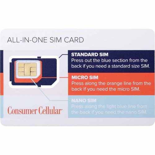 Consumer Cellular ALL IN ONE SIM Card