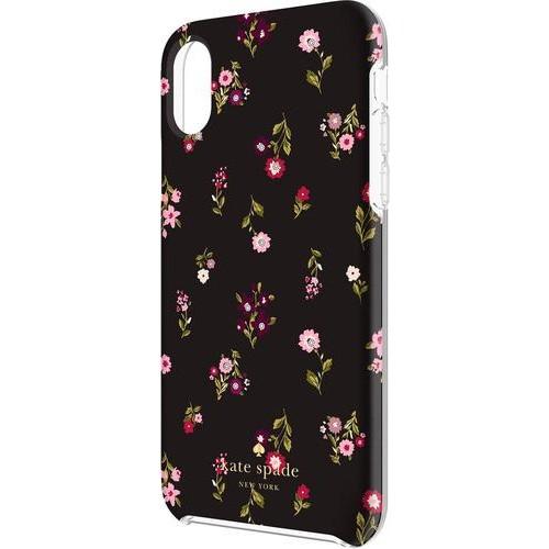 kate spade new york - Case for Apple iPhone X - Black/gems/spriggy floral multi