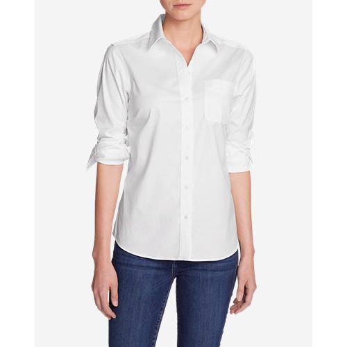 Women's Wrinkle-Free Boyfriend Long-Sleeve Shirt