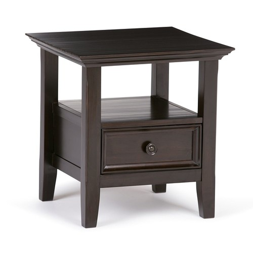 Simpli Home - Amherst End Table - Dark American-Brown