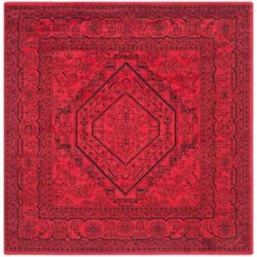 Safavieh Adirondack Red/Black 8 ft. x 8 ft. Square Area Rug