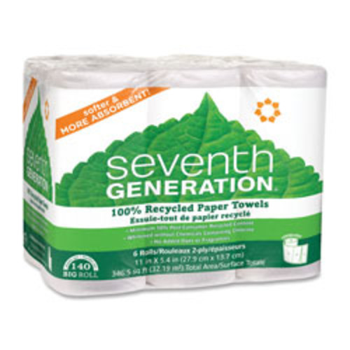 Seventh Generation 100% Recycled 2-Ply Paper Towels, 5 2/5