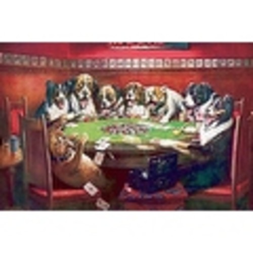 ''Poker Sympathy'' by C.M. Coolidge Sports/Games Art Print (9.5 x 14 in.)