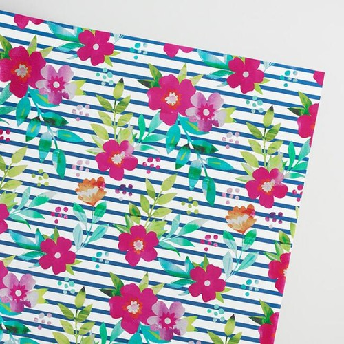 Parisian Floral Wrapping Paper Roll