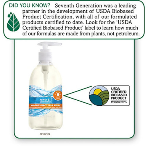 Seventh Generation Purely Clean Natural Hand Wash, 12 Oz, Clear