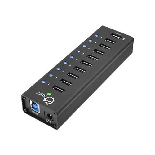 SIIG 10 Port USB 3.0 SuperSpeed Hub, Black (JU-H90011-S1)
