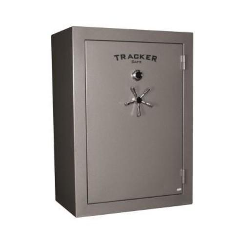 Tracker Safe 64-Gun Fire-Resistant Combination/Dial Lock Gun Safe, Gray