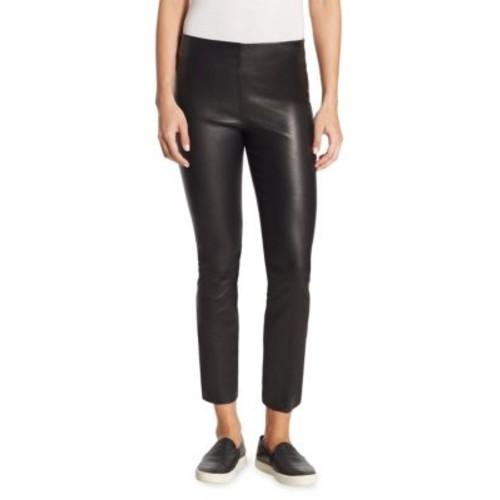 Leather Split Hem Crop Pants
