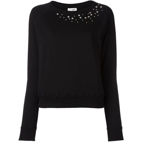 SAINT LAURENT Star-Studded Sweatshirt