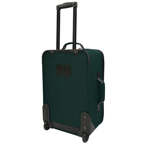 U.S. Traveler 2-Piece Carry-On Rolling Upright & Duffel Bag Luggage Set Forest