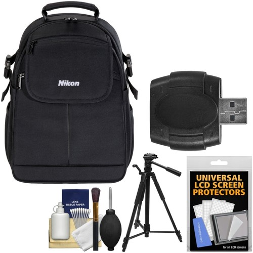Nikon - 17006 Compact DSLR Camera Backpack Case with TriPod + Kit for Digital SLR Cameras