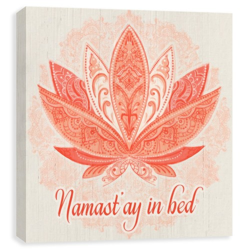 Artissimo Designs Namastay In Bed Canvas Print - 14x14