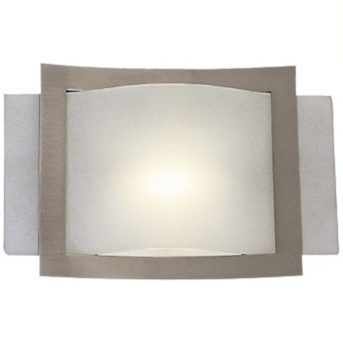 Wall Sconce No. 505-84 [Shade Color : Etched; Light Option : Halogen; Finish : Brushed Nickel]