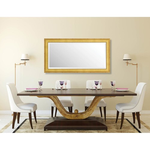 Larson-Juhl Prescott 25.625 in. x 49.625 in. Traditional Framed Bevel Mirror