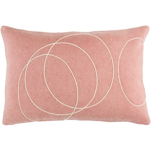 Solid Bold Pillow in Mauve & Cream design by Bobby Berk - 13\