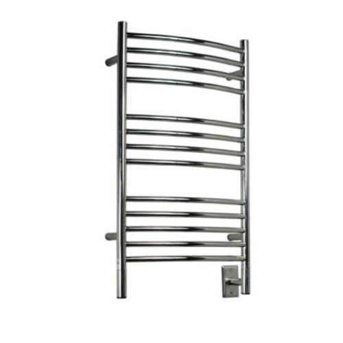 Amba Jeeves Wall Mount Electric C Curved Towel Warmer; Polished