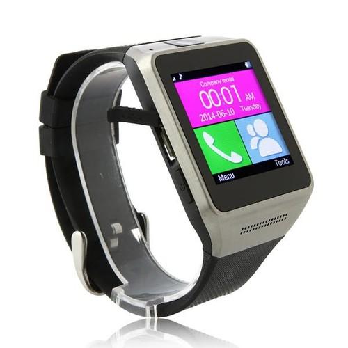 GV08 Watch Phone Quad Band 1.54 Inch Bluetooth BT Dailer Camera - Black