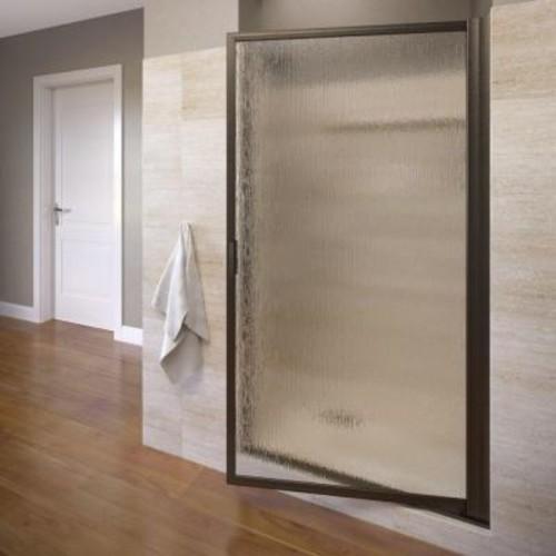 Basco Deluxe 31-3/8 in. x 63-1/2 in. Framed Pivot Shower Door in Oil Rubbed Bronze